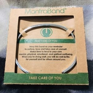 MantraBand Jewelry - TAKE CARE OF YOU Silver Mantraband Bracelet Cuff